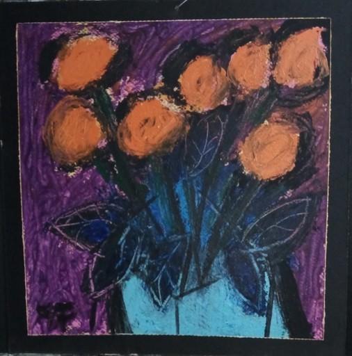 Harry BARTLETT FENNEY - Pittura - seven saffron roses (2020)