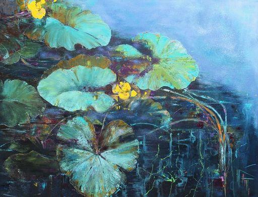 Nadine PILLON - Painting - Soir bleu d'été