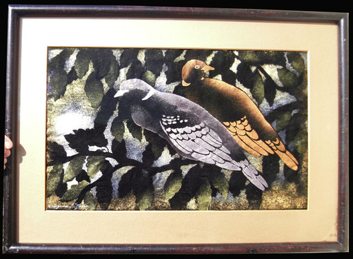 Georges MANZANA-PISSARRO - Pintura - Deux pigeons
