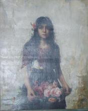 Alexei Alexeievich HARLAMOFF - Pintura - Portrait of a gypsy