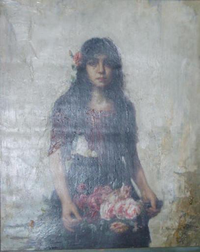 Alexei Alexeievich HARLAMOFF - Gemälde - Portrait of a gypsy