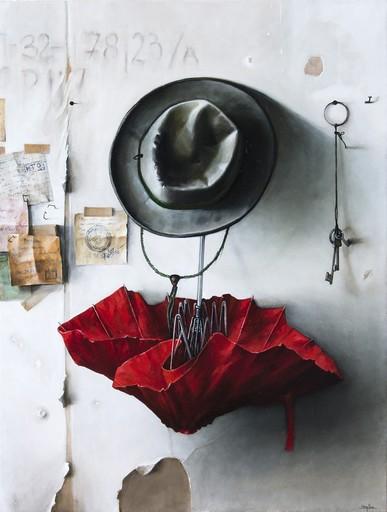 Dmitry YUZEFOVICH - Painting - Red Umbrella