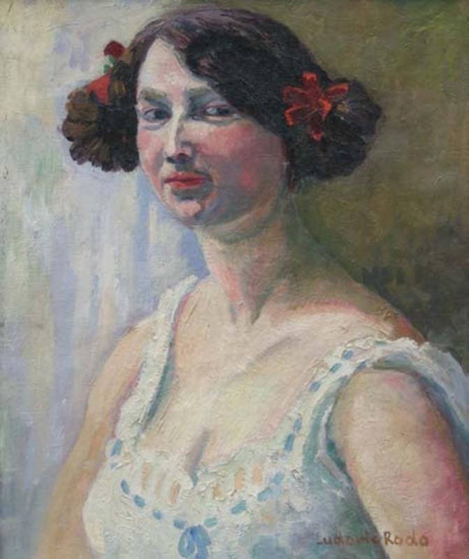 Ludovic Rodo PISSARRO - Painting - Portrait of a woman