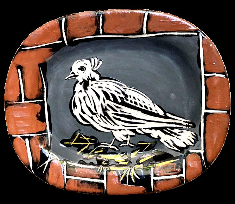 巴勃罗•毕加索 - 陶瓷  - Dove Mat   Colombe mate