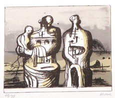 Henry MOORE - Print-Multiple - *Group In Industrial Landscape C. 418