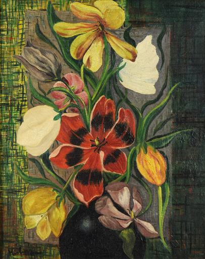 Moïse KISLING - Painting - Fleurs