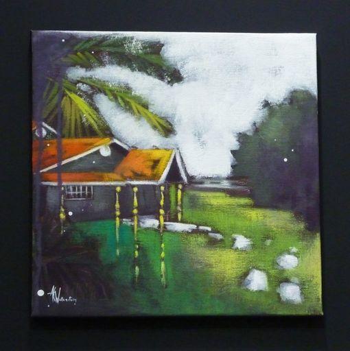 Anne Christine WELLENSTEIN - Peinture - Jardin Exotique