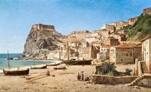 Jacques François CARABAIN - Painting - Castello Ruffo di Scilla, Reggio Calabria