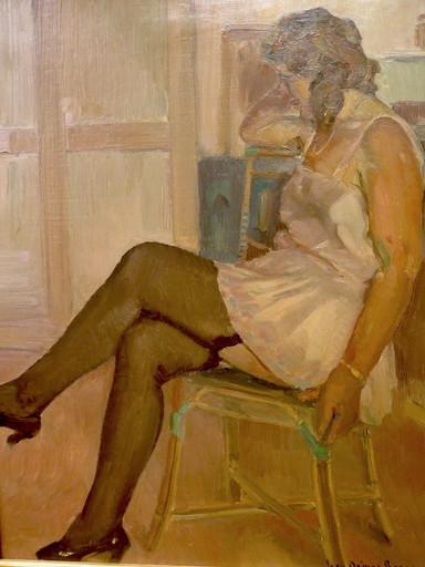 Jean-Désiré BASCOULES - Gemälde - Femme assise