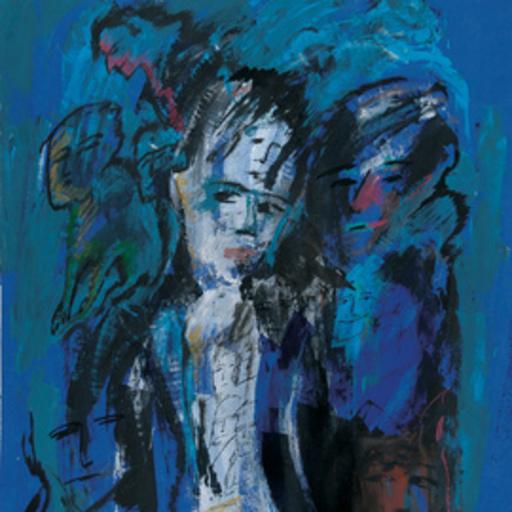 Zvi MILSHTEIN - Painting - blues