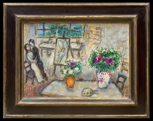 Marc CHAGALL - Peinture - Deux Bouquets à l'Atelier