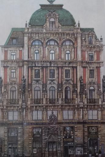 Karl GOLDAMMER - Grabado - Wien-Palais Equitable