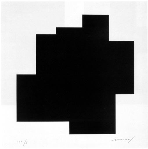 Aurélie NEMOURS - Grabado - Structure du silence I