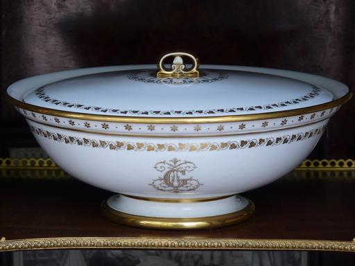 Grande Jatte Couverte en Porcelaine de Sèvres