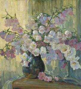 Anna Sophie GASTEIGER - Pintura - Glockenblumen