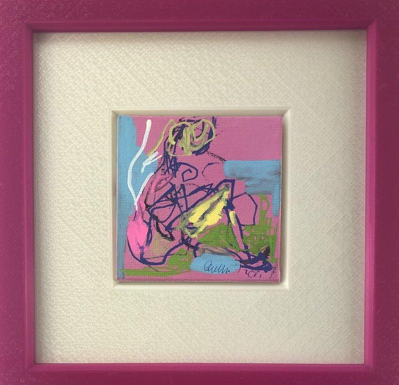Nicole LEIDENFROST - Gemälde - Frau abstrakt