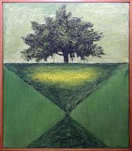 Carlo MATTIOLI - Pintura - Paesaggio con albero verde