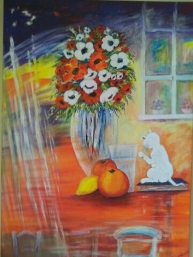 Jean-Claude LELIEVRE - Peinture - bouquet de printemps