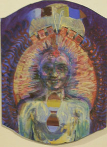 Bruno CECCOBELLI - Painting - Sorrido al quadro