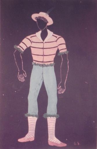 吉诺·塞维里尼 - 水彩作品 - pastorello