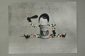 Pino PASCALI - Painting - Conserve Arlecchino
