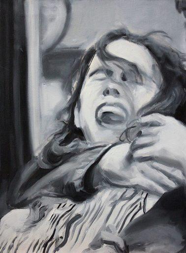 Nathalie BIBOUGOU - Painting - « A nos amours »