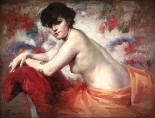 Alexandre-François BONNARDEL - Pintura - Le coussin rouge
