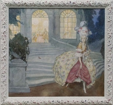 "Erich SCHUTZ - Drawing-Watercolor - ""Cinderella"", ca.1920, Watercolor"