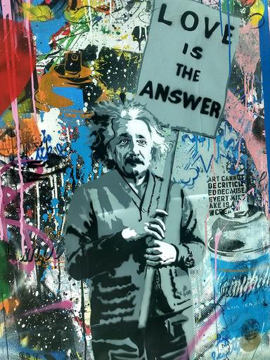 MR BRAINWASH - Pintura - Albert Einstein