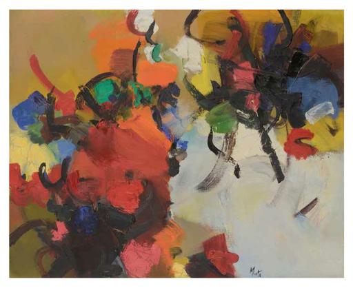 Jean MIOTTE - Peinture - Sans titre, circa 1953