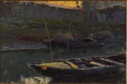 Giuseppe DANIELI - Peinture - Barche in ormeggio