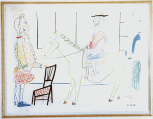 Pablo PICASSO - Stampa Multiplo - Man on Horse from Comedie Humaine Suite