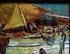 Louis BONAMICI - Painting - Pêcheurs et tartanes