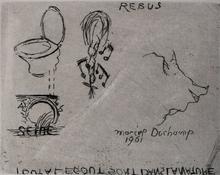 Marcel DUCHAMP - Print-Multiple - Rebus