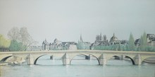 Arnaud D'AUNAY - Painting - Notre Dame & la Seine