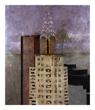 Jorge CASTILLO - Grabado - Good morning, Chrisler Building New York