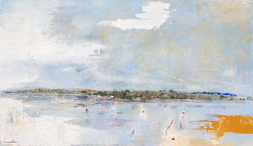 Jean COMMERE - Pintura - Le lac de Maine à Angers, 1986