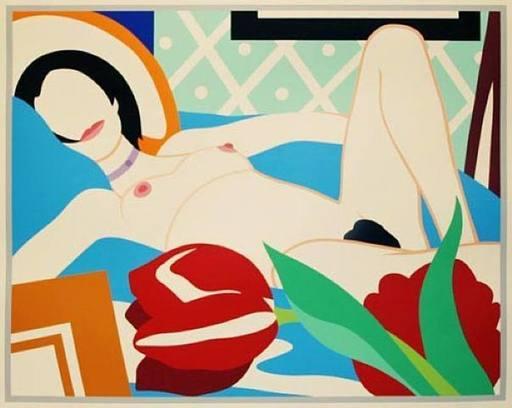 Tom WESSELMANN - Grabado - Monica Nude With Tulips