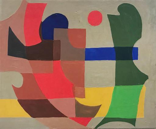Wladyslaw LOPUSZNIAK - Pittura - Sans titre (c. 1950)