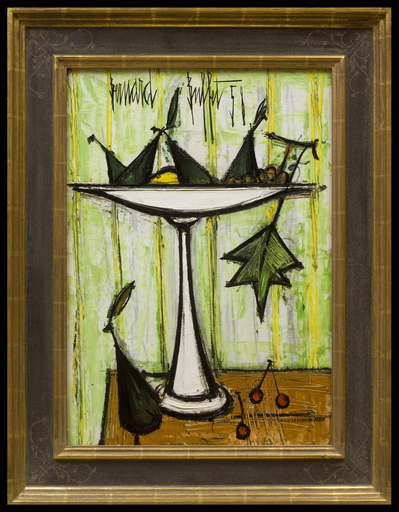 Bernard BUFFET - Pittura - Compotier aux Fruits