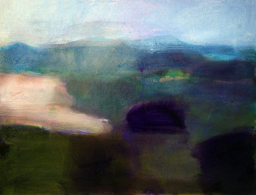 Klaus Karl MEHRKENS - Painting - Paesaggio Trasimeno