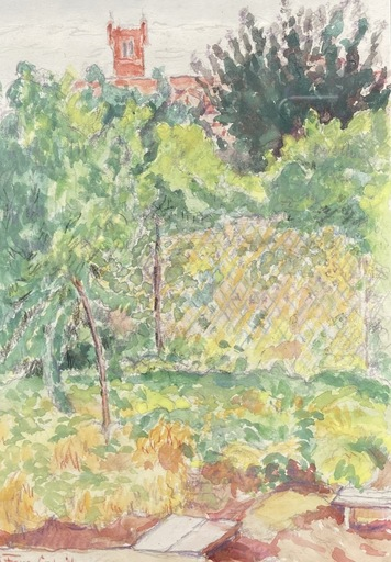 André FONS GODAIL - Disegno Acquarello - Prades