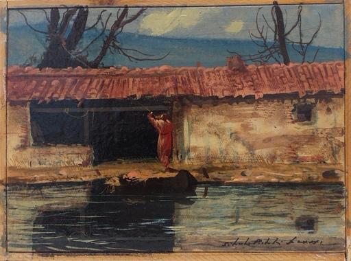 Silvestro PISTOLESI - Painting - Emmaus