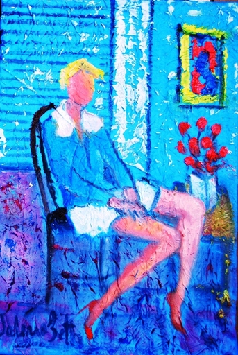 Valerio BETTA - Painting - Giovane modella a casa - Young model at home