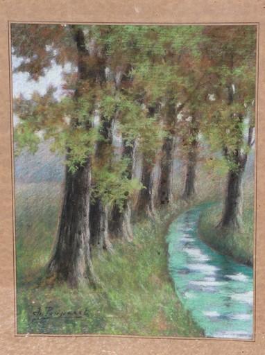 Charles POUPAERT - Peinture - veldzicht