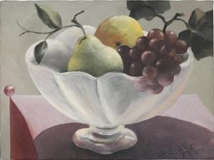 Ercole PIGNATELLI - Pittura - Fruttiera in rosa