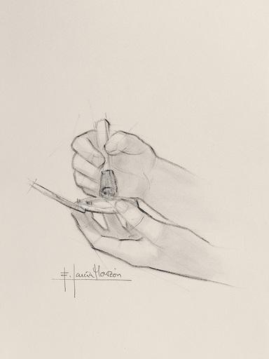 Fernando GARCIA MONZON - 水彩作品 - Make up 2