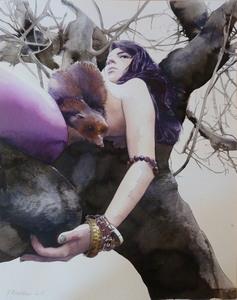 Katia BOURDAREL - Painting - Anima #3