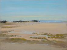 Jacques COQUILLAY - Dibujo Acuarela - Bord de mer à marée basse en Bretagne