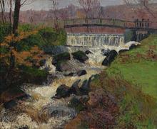 Gustave LOISEAU - Painting - La cascade